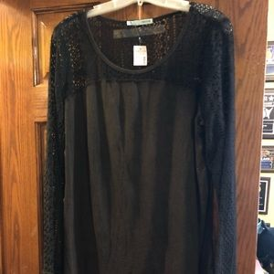 Maurice's Brown Lace Top Size XL